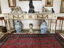 19th. C. gesso and giltwood side table