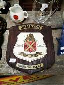 Jameson Irish Whiskey cork advertising sign