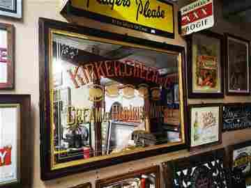 Kirker Greer & Co. Whisky Belfast advertising mirror.