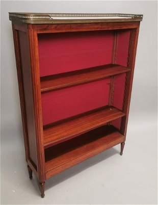 Edwardian mahogany free standing bookcase.