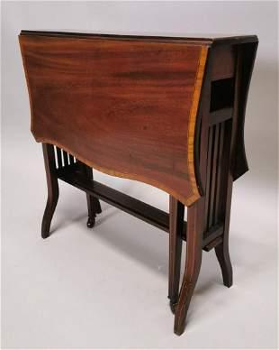 Edwardian mahogany Sutherland table.