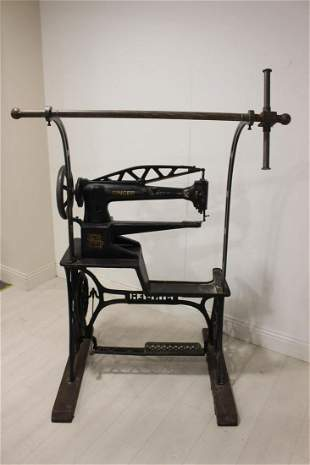 Industrial Singer sewing machine.