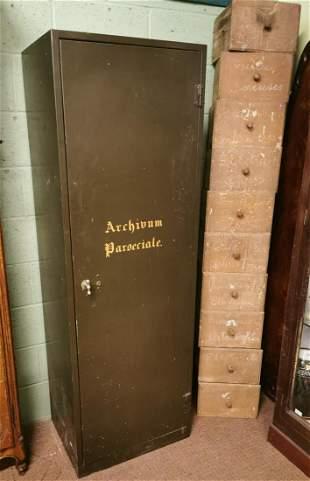 1940's metal storage cabinet.