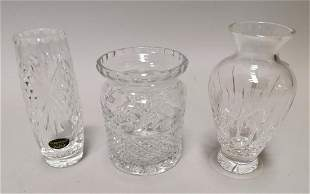 Three pieces of Donegal Crystal.