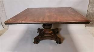 Early 19th. C. mahogany breakfast table.
