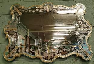 Murano Venetian glass mirror.