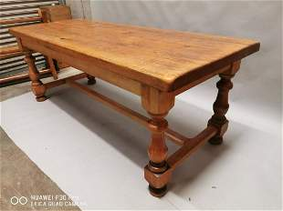 Oak farmhouse kitchen table.