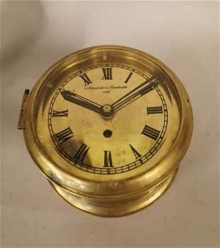 Brass ship's clock.