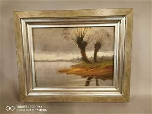 Early 20th C. oil on canvas Coastal Scene.