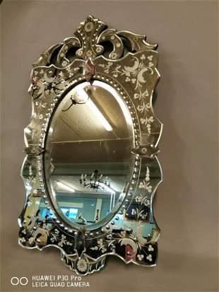 19th C. Venetian wall mirror.