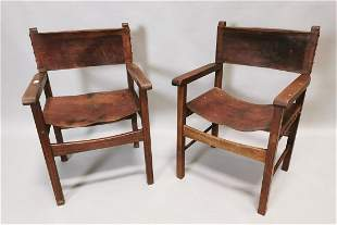 Pair of early 20th C. armchairs.