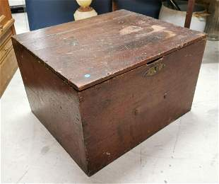19th C. pine box.