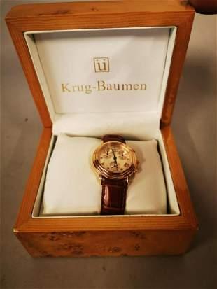 Krug- Baumen gent's wrist watch.