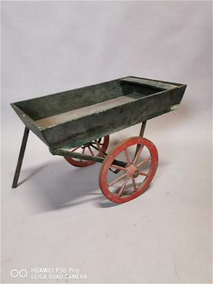 Early 20th C. painted pine child's cart.