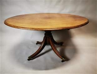 Regency mahogany breakfast table.