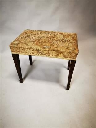 Edwardian inlaid mahogany foot stool.