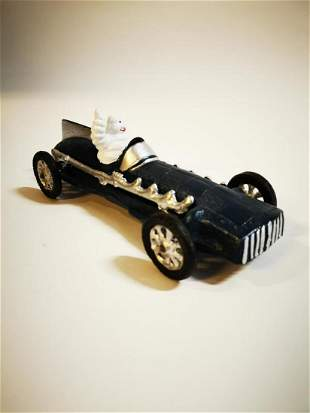 Cast iron Michelin tyres model of car