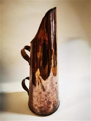 19th C. copper coal scuttle.