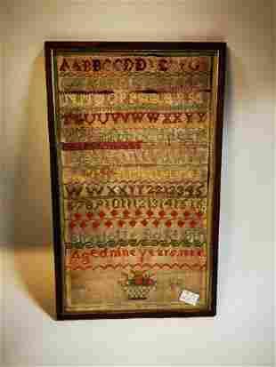 19th C. framed tapestry
