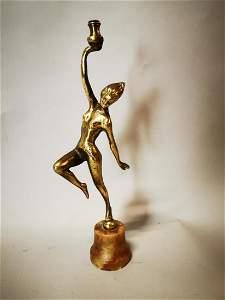 Brass Art Deco figure of a Dancer.