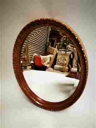 Early 20th C. giltwood and gesso wall mirror.