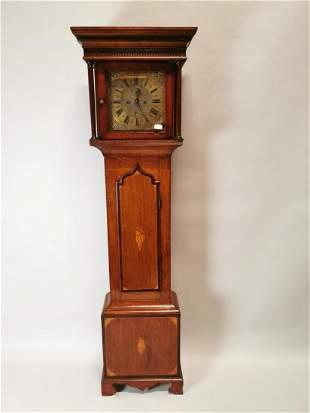 Georgian mahogany and oak Grandfather clock