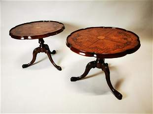 Pair of Edwardian wine tables.