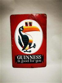 Guinness Is Good enamel advertising sign.