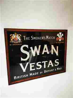 Rare Swan Vestas advertising sign.