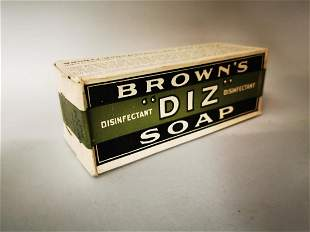 Early 20th C. Brown's soap advertising box.