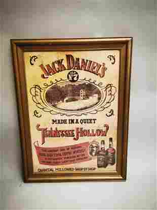 Jack Daniels advertising print.