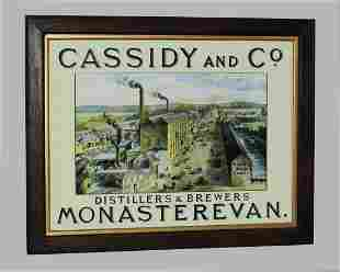Cassidy and Co Monasterevan advertising print.