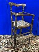 Regency child's chair (worm) W 36 H 84 D 40