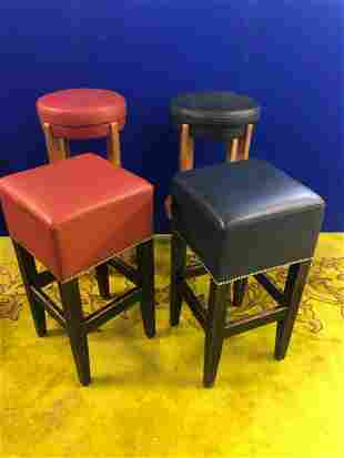 Two pairs of quality bar stools, tallest H 85