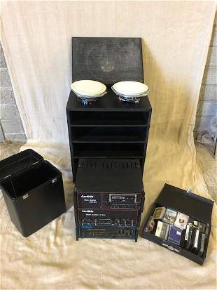 Selection of speakers, Certikin Music System Amplifier.