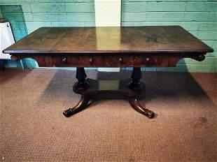 William IV mahogany library table.