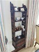Mahogany floor bookcase.