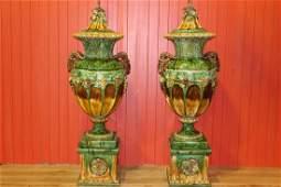 Pair of ceramic urns