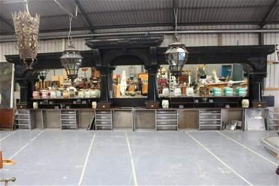 Large decorative Brunswick bar back