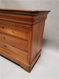 Late 19th. C. cherrywood chest.