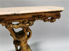 Decorative giltwood console table