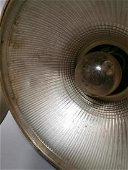 Pair of 1940's holophane hanging light shades