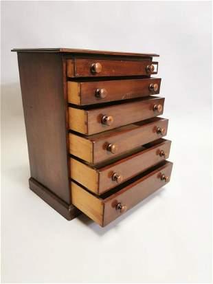 19th. C. mahogany specimen chest