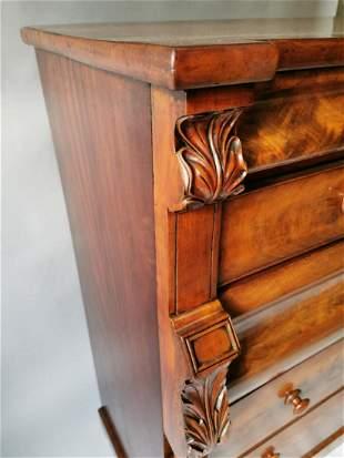 19th. C. mahogany scotch chest