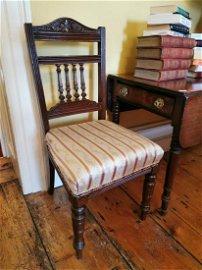 Pair of 19th. C. mahogany chairs