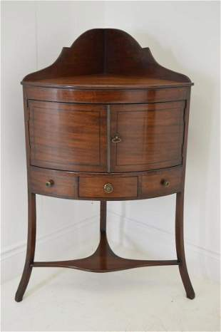 Georgian mahogany corner wash stand