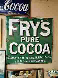 Fry's Pure Cocoa advertising sign.