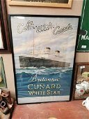 Britannic Cunard advertising poster.