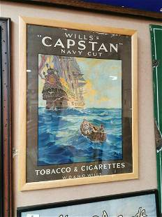 Will's Capstan cigarettes advertising showcard.