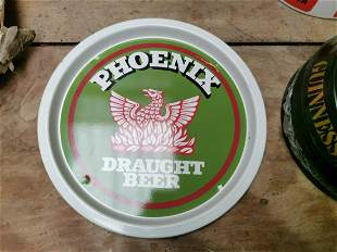 Phoenix Draught Ale advertising drinks tray.